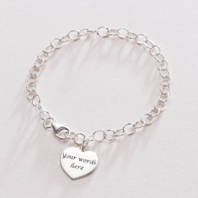 Engraved Heart Memorial Bracelet | Someone Remembered